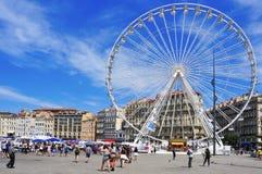 马赛,法国旧港口  免版税库存图片