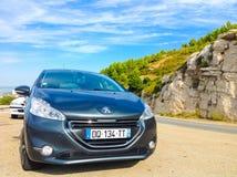 马赛,法国- 2015年9月08日:在山的汽车 免版税库存图片