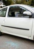 马赛/法国- 03 20 2017年汽车玻璃是brocken 免版税库存照片