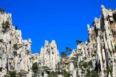 马赛Calanques,法国 库存照片