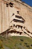 马蹄寺洞穴 库存图片