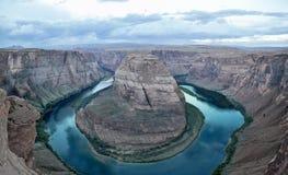 马蹄形的河曲在亚利桑那,美国 库存图片