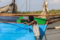 马达加斯加人的人绘画 图库摄影