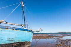马达加斯加人的单桅三角帆船 库存图片