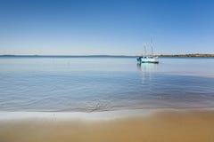 马达加斯加人的单桅三角帆船 图库摄影