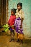 马达加斯加人的女孩 库存图片