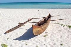 马达加斯加人的渔夫小船,马达加斯加 图库摄影