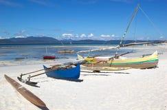 马达加斯加人的渔夫小船,马达加斯加 免版税库存照片