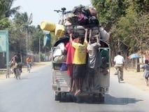 马达加斯加人的运输在市区 库存图片
