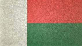 马达加斯加的旗子的原始的纹理3D图象 皇族释放例证