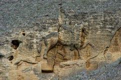 马达拉骑士浮雕 免版税图库摄影