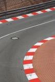 马达种族沥青和遏制纹理在摩纳哥GP 免版税库存图片