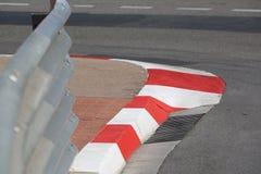 马达种族沥青和遏制纹理在摩纳哥GP 图库摄影