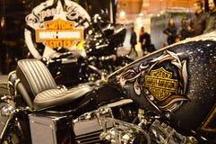 马达自行车商展,摩托车哈利戴维森 免版税库存图片