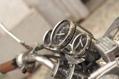 从马达自行车的细节 免版税库存照片