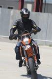 马达自行车车手 库存图片