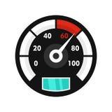 马达自行车车速表象,平的样式 向量例证