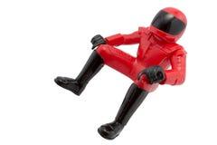马达骑自行车的人玩具 库存图片