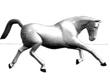 马运行 向量例证