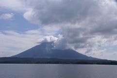 马那瓜湖在尼加拉瓜 库存图片