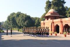 马都拉斯对壕兵-在Rashtrapati Bhavan的印地安军队 免版税库存照片
