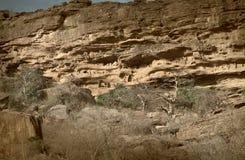 马里、非洲- Dogon村庄和典型的泥大厦 免版税库存图片