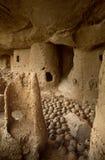 马里、非洲- Dogon村庄和典型的泥大厦 库存图片