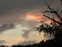 马里兰日落天空  免版税库存照片