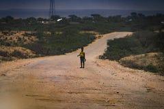 索马里兰男孩 免版税库存照片