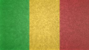 马里的旗子的原始的texture3D图象 库存照片