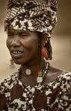 马里,西非- Dogon村庄泥房子, Peul和Fulani p 免版税库存照片