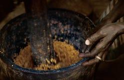 马里,西非- Dogon村庄泥房子, Peul和Fulani p 免版税图库摄影