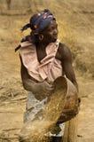 马里,西非- Dogon村庄泥房子, Peul和Fulani p 免版税库存图片