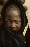 马里,西非- Dogon村庄泥房子, Peul和Fulani p 库存照片