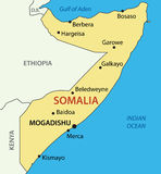 索马里-地图联邦共和国 库存照片