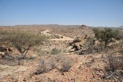 索马里ladscape 免版税图库摄影