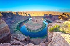 马鞋子弯,页的,亚利桑那美国科罗拉多河 库存照片