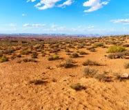 马鞋子弯,页的,亚利桑那美国科罗拉多河 图库摄影