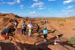 马鞋子弯,页的,亚利桑那美国科罗拉多河 免版税库存图片