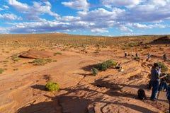 马鞋子弯,页的,亚利桑那美国科罗拉多河 库存图片