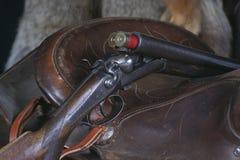 马鞍猎枪-开放行动 免版税库存图片