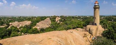 马马拉普拉姆灯塔,马马拉普拉姆,泰米尔纳德邦,印度 库存照片