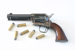 马驹 45手枪,调解人 免版税图库摄影