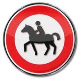 马骑术的禁止 库存照片