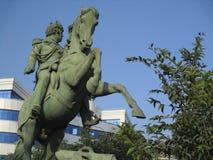 马骑术雕象 库存照片