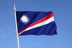 马绍尔群岛的旗子 免版税库存图片
