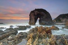 马头岩石, Bermagui澳大利亚 免版税库存图片