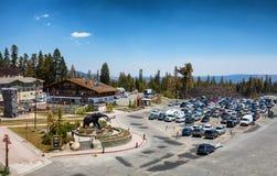 马默斯Mountain滑雪地区 免版税图库摄影