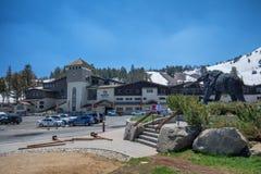 马默斯Mountain滑雪地区 免版税库存照片
