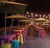 马洛里广场基韦斯特岛在晚上 库存图片
